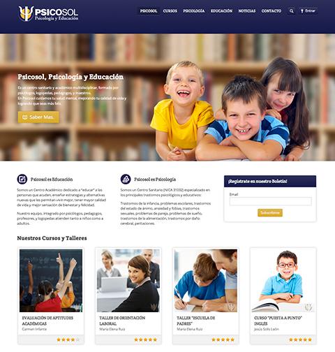 Re - Diseño Web y Actualización - Psicosol.es by naran-ho.com