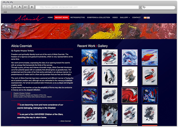 Web Design Alicia Czerniak by naran-ho.com