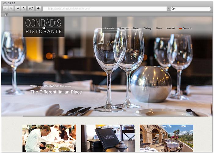 Conrad's Il Ristorante - Diseño Web Marbella - naran-ho.com