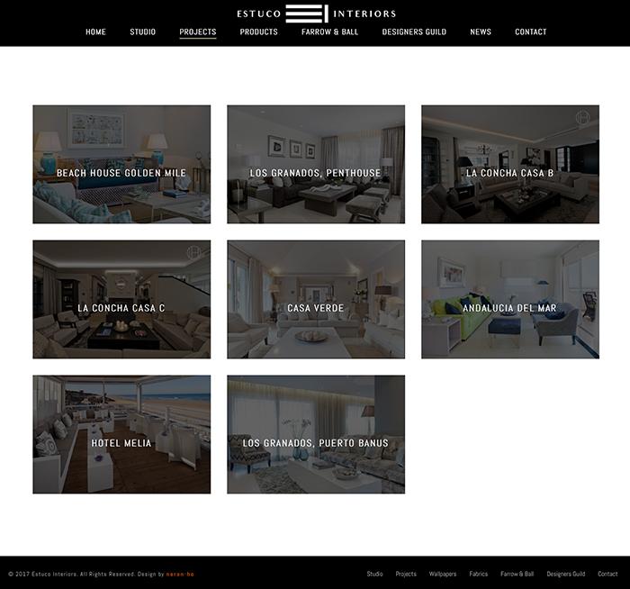 naran-ho Diseño Web Estuco Interiors Marbella