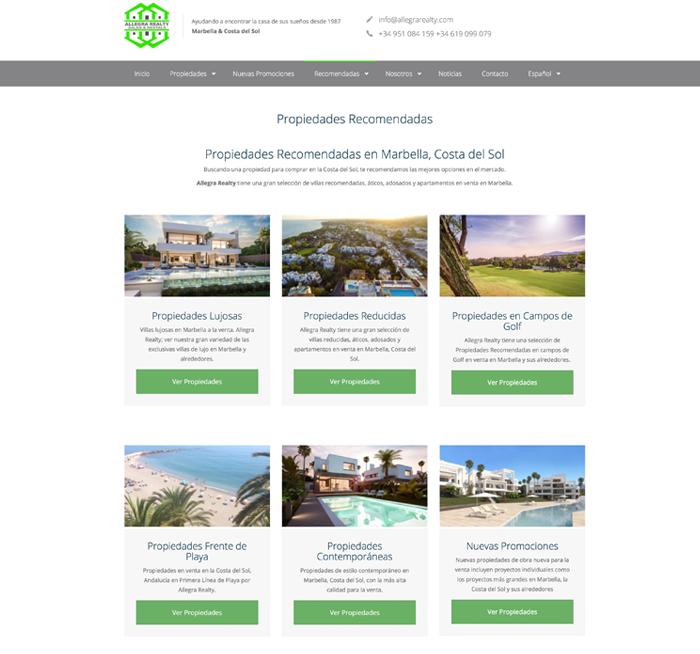 Allegra Realty Inmobiliaria - Diseño Web by NARAN-HO Design