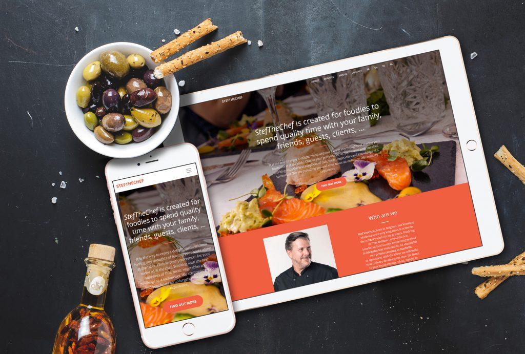stefthechef.com Web Design by NARAN-HO