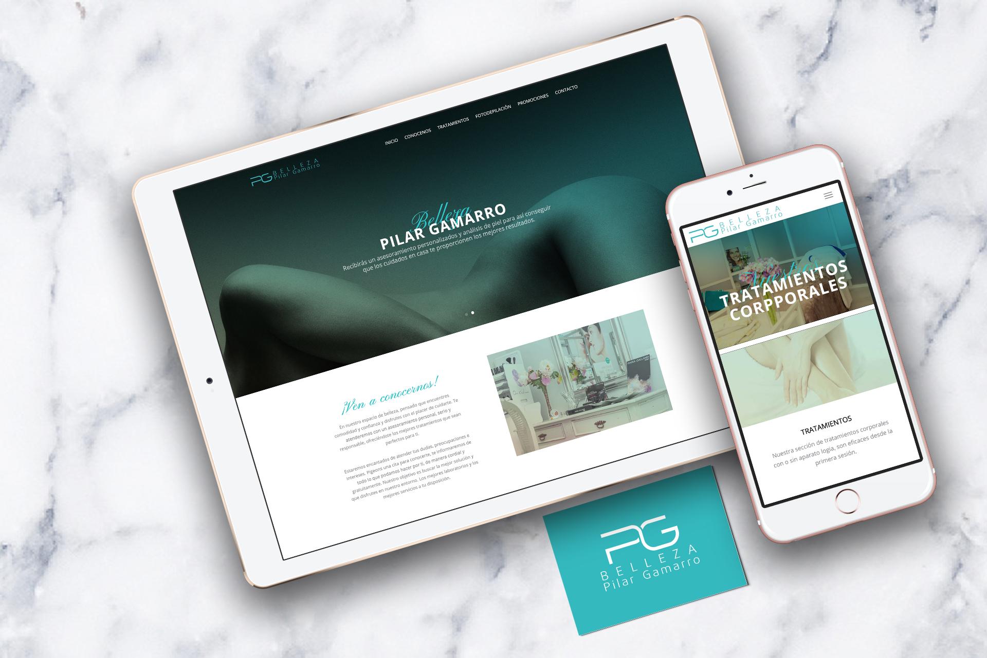 Belleza Pilar Gamarro - Web Design by NARAN-HO