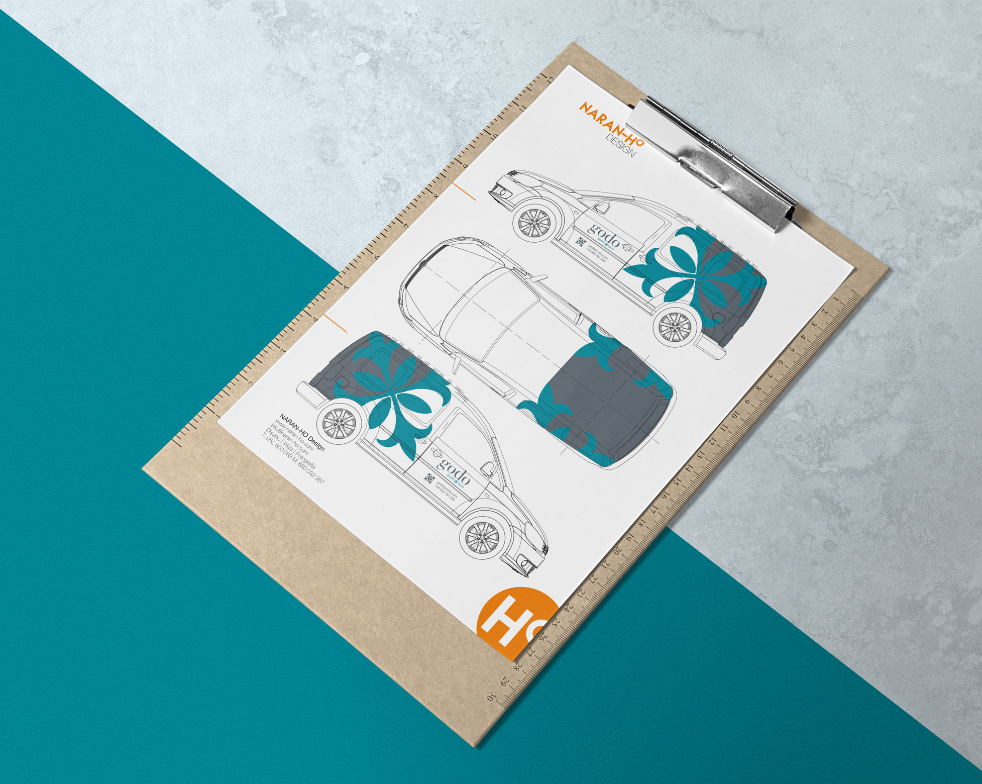 Diseño Rotulado coches corporativos by NARAN-HO Design
