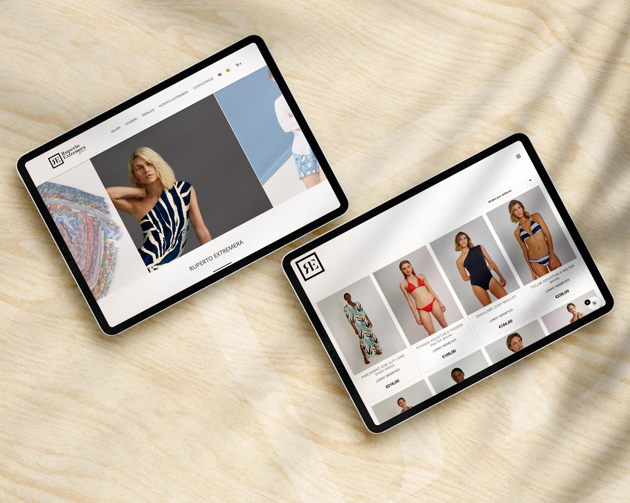 Ruperto Extremera Fashion - Web Design + E-commerce by NARAN-HO